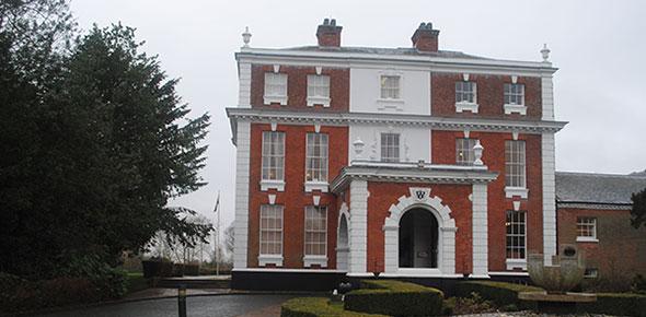 Entrance of Hilton Hall based near Wolverhampton